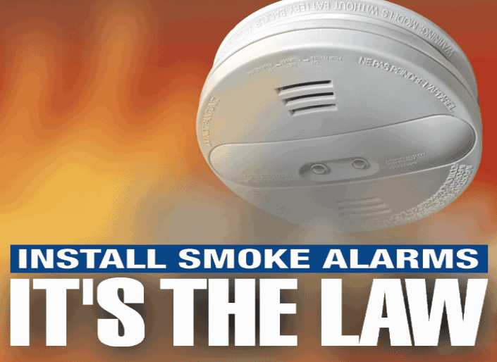 Install Smoke Alarms It's the Law